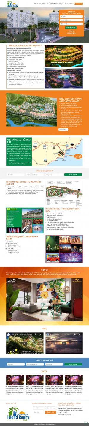 Mẫu giao diện thiết kế website bất động sản một dự án