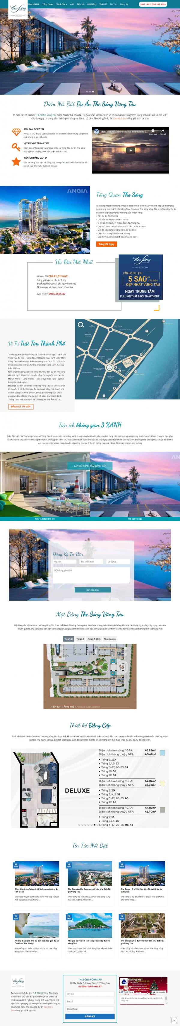 Mẫu giao diện thiết kế web nhà đất giá rẻ