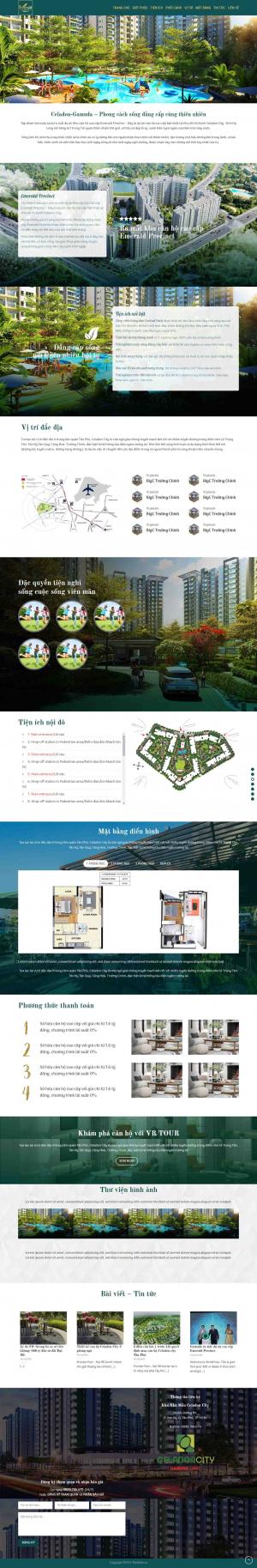 Mẫu giao diện thiết kế web bất động sản giá rẻ