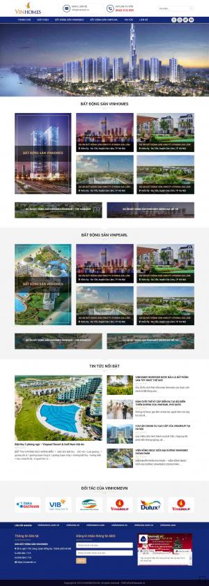 Mẫu giao diện thiết kế web bất động sản nhiều dự án giá rẻ