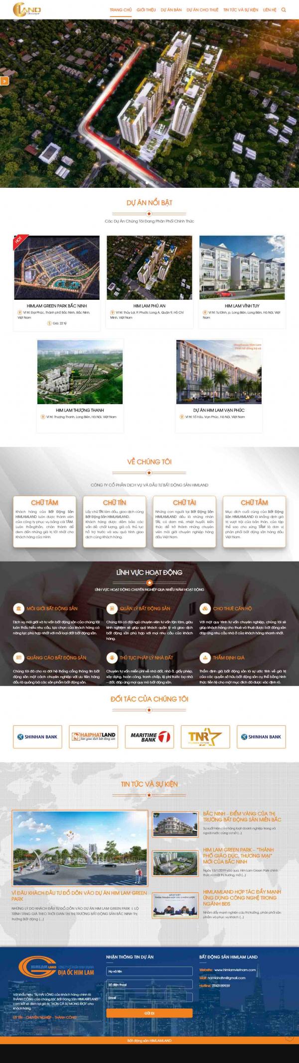 Mẫu giao diện thiết kế web landing page nhà đất