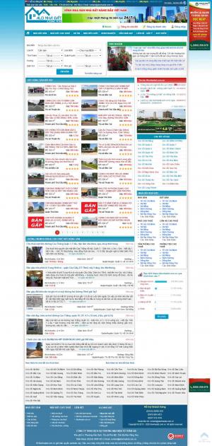 Mẫu thiết kế website sàn giao dịch bất động sản