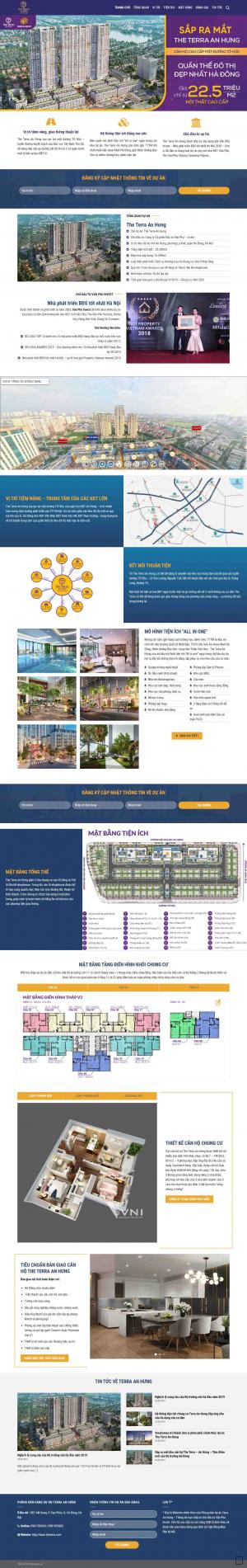 Mẫu giao diện thiết kế website bất động sản chuyên nghiệp nhất