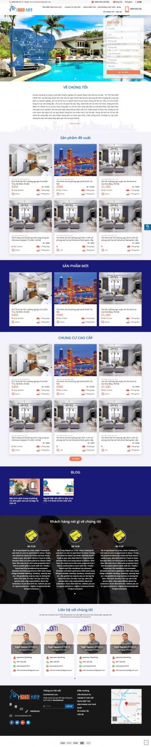 Mẫu giao diện thiết kế website bất động sản nhiều dự án chuyên nghiệp