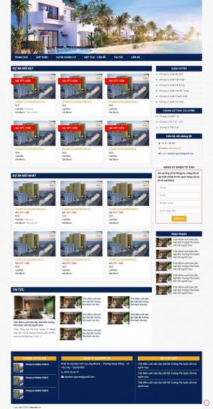 Mẫu giao diện thiết kế website bất động sản nhiều dự án