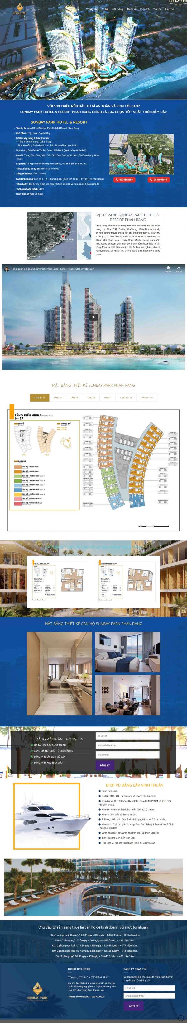 Mẫu giao diện thiết kế website banding page bất động sản đẹp