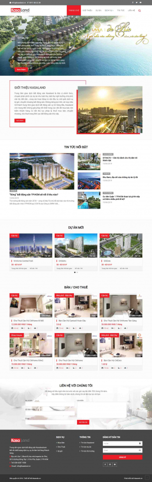 Mẫu giao diện thiết kế website bất động sản đẹp