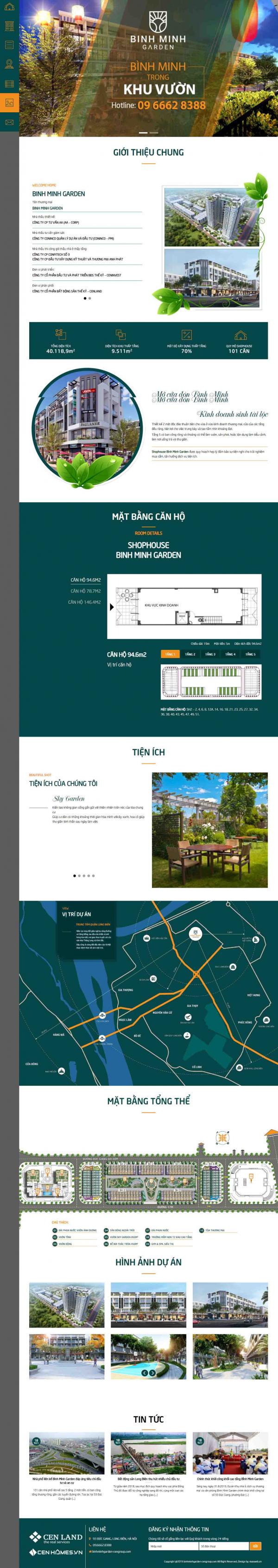 Mẫu giao diện thiết kế web bđs 1 dự án giá rẻ