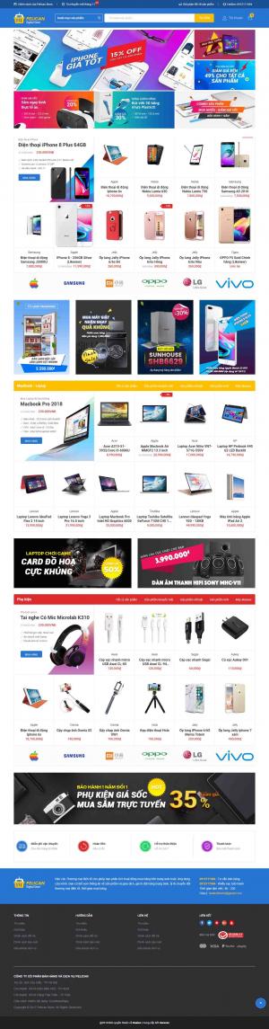 Mẫu giao diện thiết kế website bán hàng điện thoại và đồ công nghệ