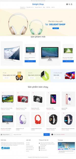 Mẫu giao diện thiết kế website bán hàng tivi và đồ công nghệ