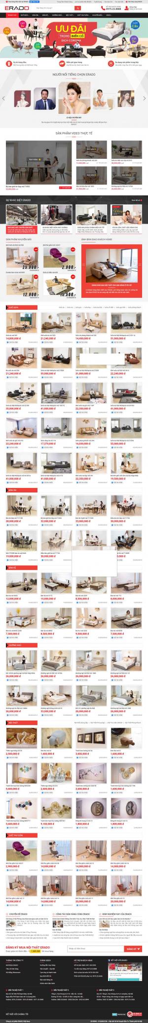 Mẫu giao diện thiết kế website bán hàng nội thất