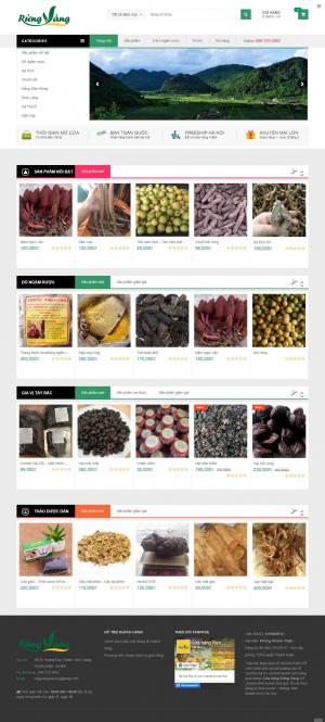 Mẫu giao diện thiết kế website bán hàng núi rừng