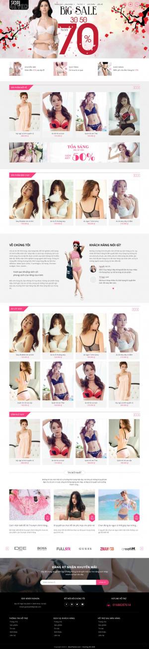 Mẫu giao diện thiết kế website bán hàng quần áo phụ nữ
