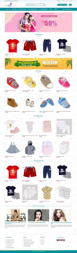 Mẫu giao diện thiết kế website bán hàng quần áo