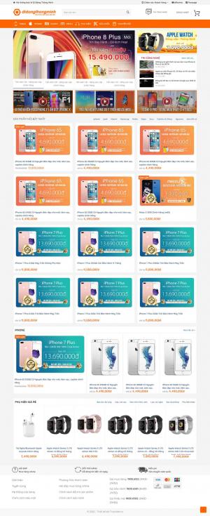 Mẫu giao diện thiết kế website bán hàng điện thoại di động