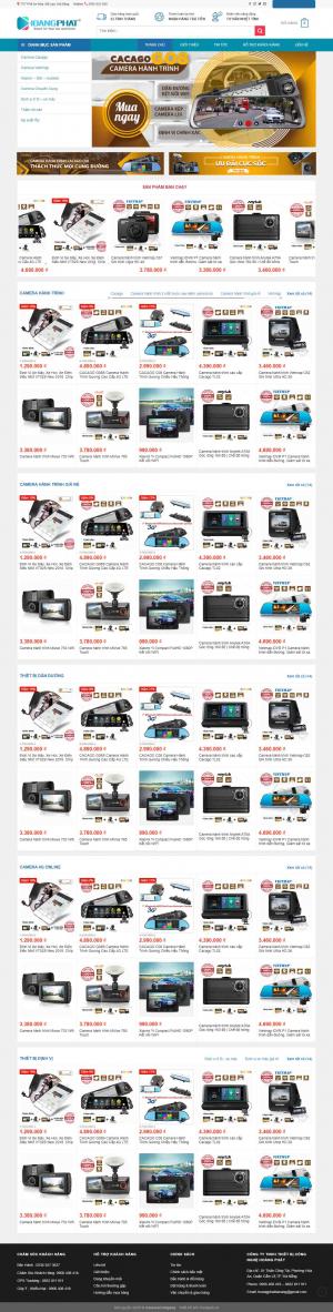 Mẫu giao diện thiết kế website bán hàng điện tử