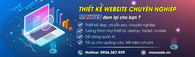 Banner thiết kế Website Maxweb