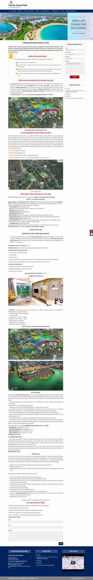 Mẫu giao diện thiết kế website nhà đất
