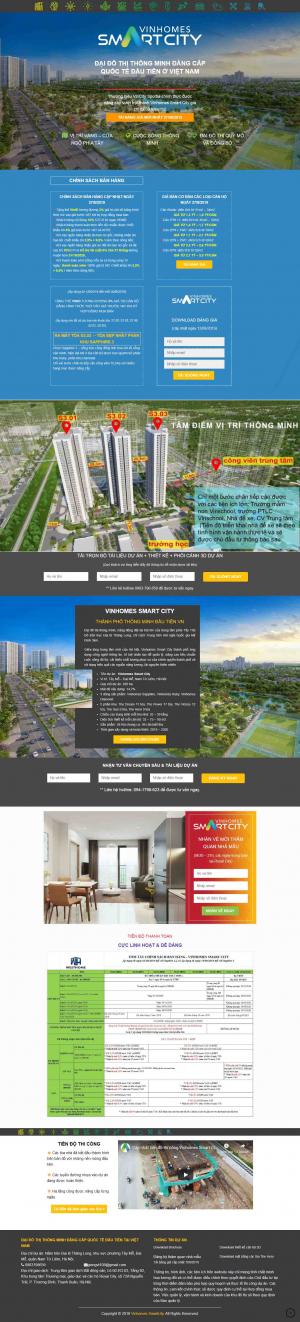 Mẫu trang web bất động sản đẹp