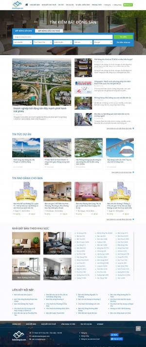 Mẫu giao diện thiết kế website bất động sản cao cấp