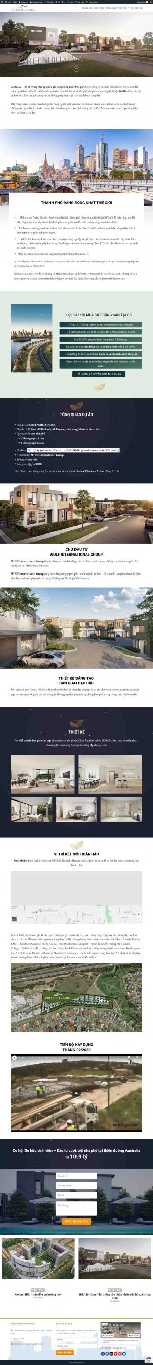 Mẫu trang web bất động sản