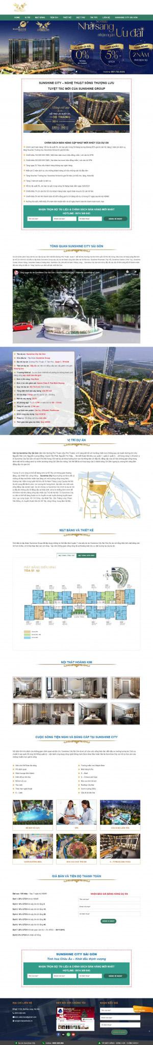 Mẫu giao diện thiết kế website bất động sản chuyên nghiệp