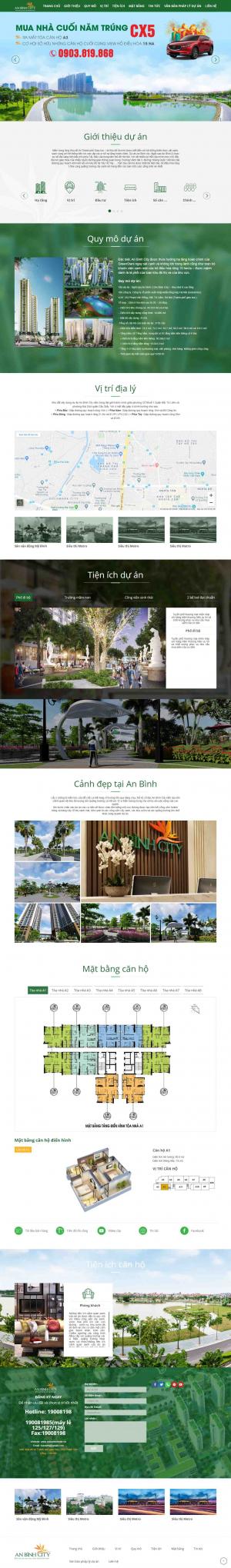 Mẫu website bất động sản chuyên nghiệp