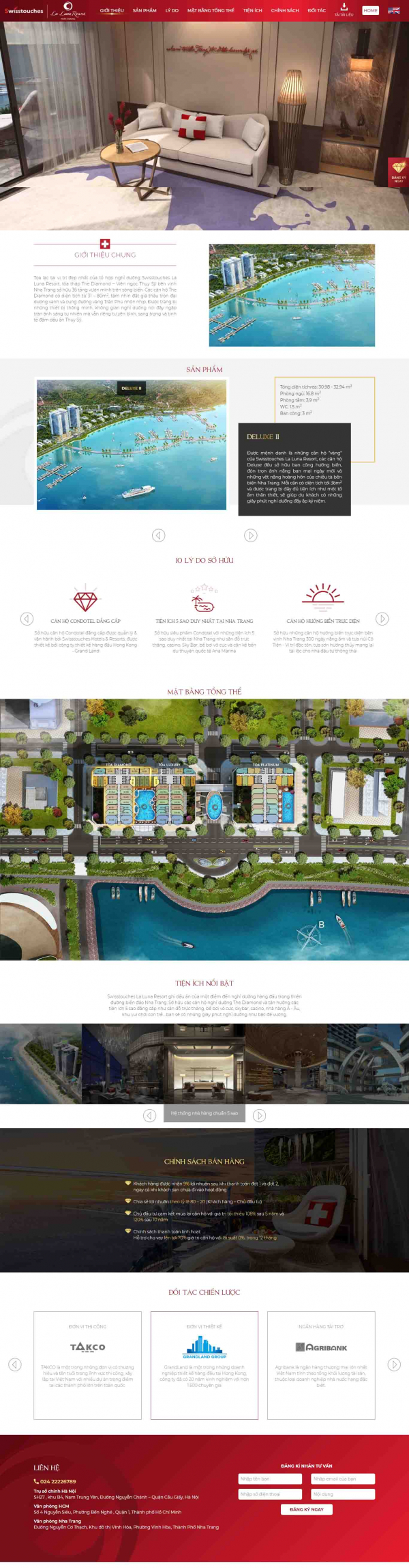 Mẫu giao diện thiết kế web landing page bat dong san chuyen nghiep