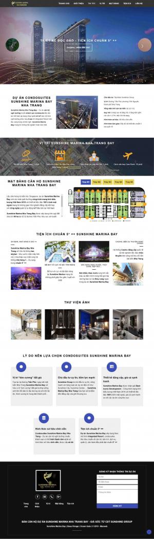 Mẫu giao diện thiết kế web bat dong san
