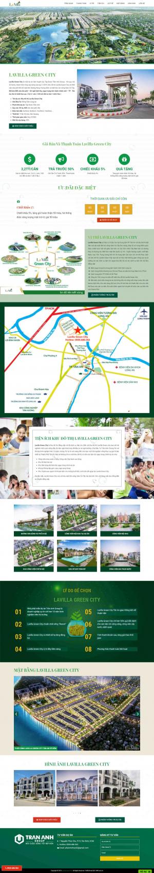 Mẫu giao diện website bất động sản cao cấp