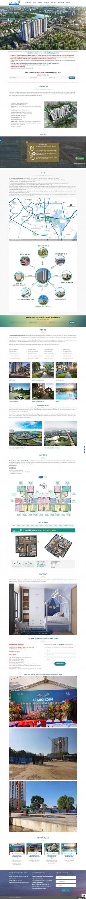 Mẫu thiết kế website bất động sản chuyên nghiệp nhiều dự án