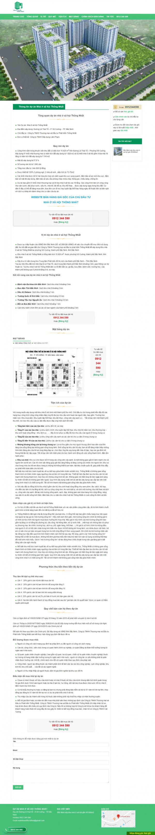 Mẫu giao diện thiết kế web landing page bất động sản chuyên nghiệp