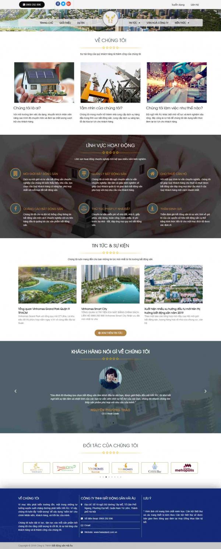 Mẫu giao diện thiết kế web bất động sản nhiều dự án