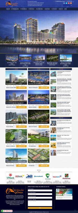 Mẫu giao diện thiết kế web landing page bất động sản