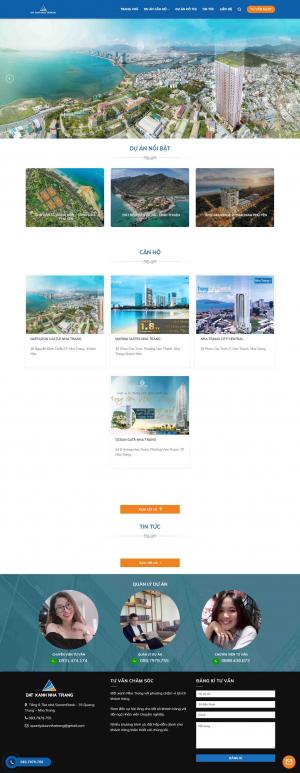 Mẫu giao diện thiết kế website bất động sản