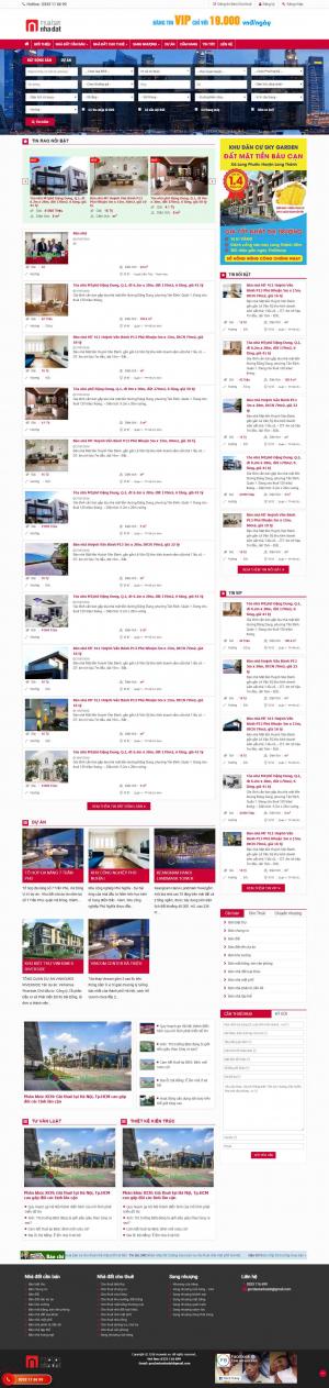 Mẫu giao diện thiết kế web bđs