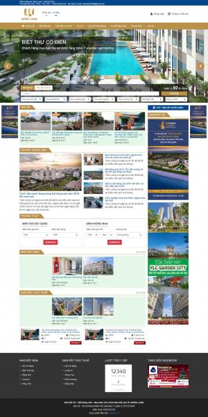 Mẫu giao diện thiết kế website bất động sản giá rẻ