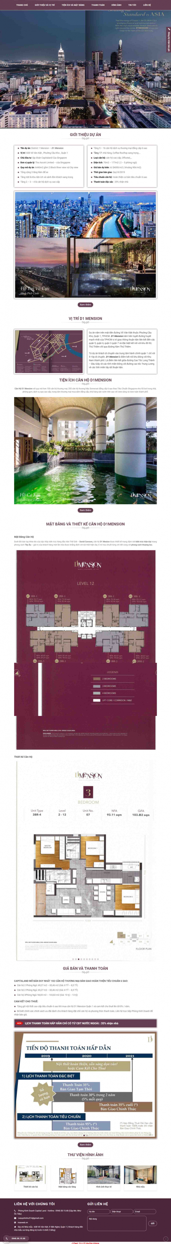 Mẫu giao diện thiết kế website mua bán căn hộ