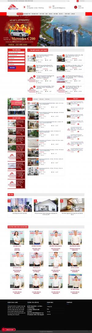 Mẫu giao diện thiết kế website bất động sản, mua bán nhà đất