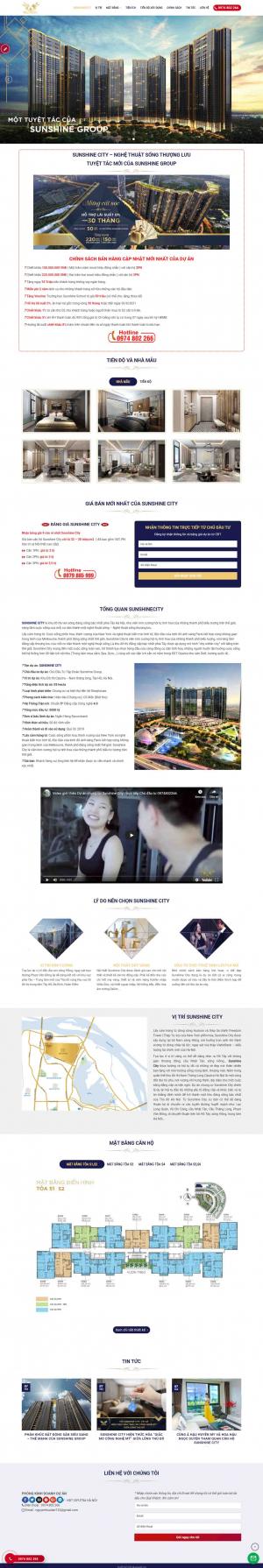 Mẫu giao diện thiết kế web bất động sản chuyên nghiệp