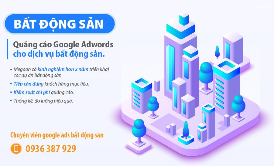 Quảng cáo google ads bất đông sản